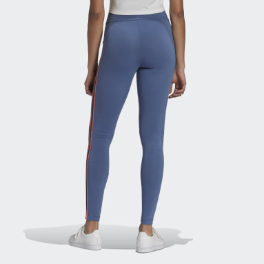Dames Originals Blauw Adicolor Sliced Trefoil High-Waisted Legging