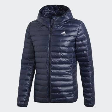 Men City Outdoor Blue Varilite Hooded Down Jacket