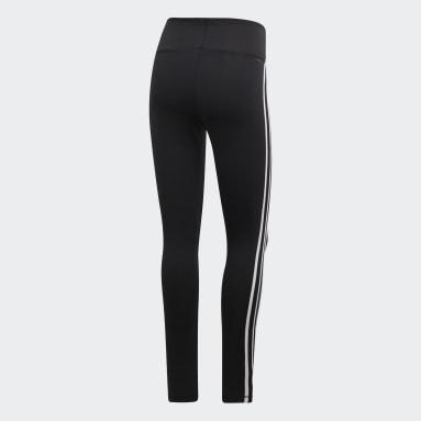 ผู้หญิง เทรนนิง สีดำ กางเกงรัดรูปเอวสูงขายาว Design 2 Move 3-Stripes
