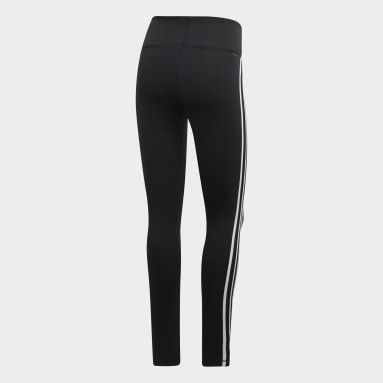 Licras Largas Design 2 Move 3 Rayas - Pretina Alta Negro Mujer Training