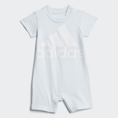 Infant & Toddler Training Blue Shortie Cotton Romper