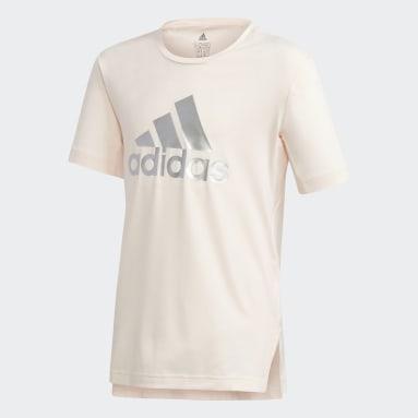 Mädchen Fitness & Training Glam On AEROREADY T-Shirt Rosa