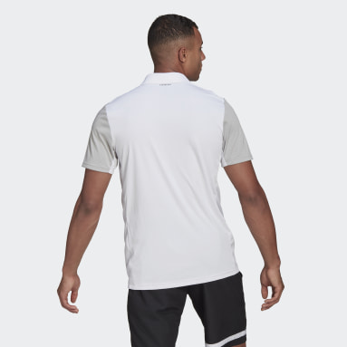 Men Tennis White Club Tennis Polo Shirt