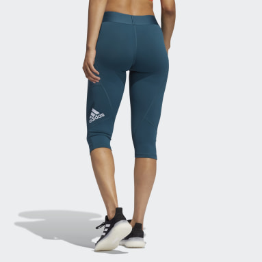 Tight Techfit Capri Turchese Donna Fitness & Training
