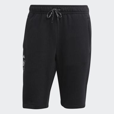 Men Football Black Germany Sweat Shorts
