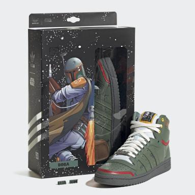 Men's Originals Green Top Ten Hi Star Wars Boba Fett Shoes