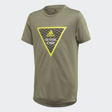 Boys Yoga Green XFG Tee
