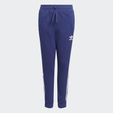 Kids Originals Blue 3-Stripes Pants