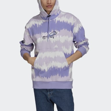 Men Originals Purple adidas Adventure Archive Printed Hoodie