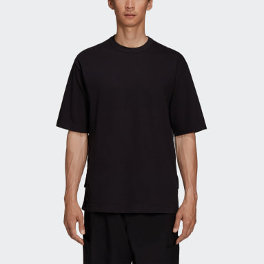 Muži Y-3 černá Tričko Y-3 CH3 Raw Jersey Graphic Short Sleeve Logo