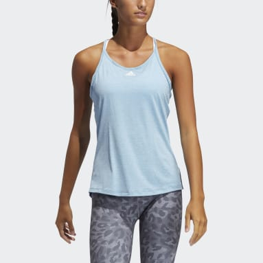 Women Training Blue Performance Tank Top