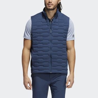 Men Golf Blue Frostguard Full-Zip Padded Vest