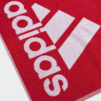 Zimní Sporty červená Ručník adidas Small