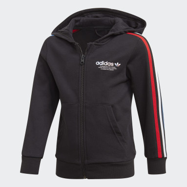 Ensemble Adicolor Full Zip Hoodie noir Enfants Originals
