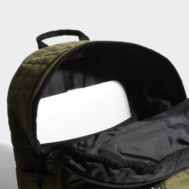 Originals Green Quilted Trefoil Backpack
