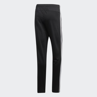 Men Essentials Black Essentials 3-Stripes Tapered Pants