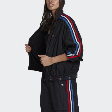 Women Originals Black Adicolor Tricolor Japona Track Jacket