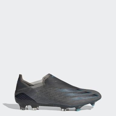 Bota de fútbol X Ghosted+ césped natural seco Negro Fútbol