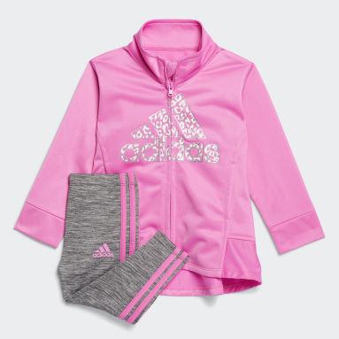 Infant & Toddler Training Pink Jacket and Melange Tights Set
