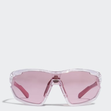 Running White SP0002 Crystal Injected Sport Sunglasses