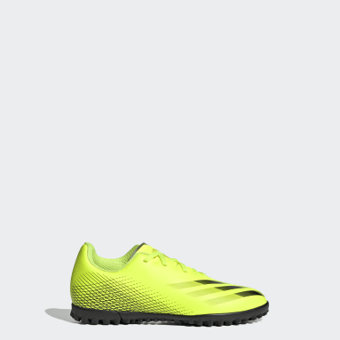 Children Soccer Yellow X Ghosted.4 Turf Shoes