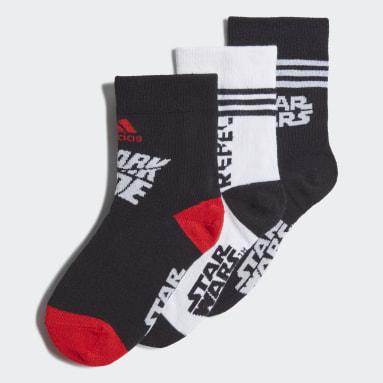Děti Sports černá Ponožky Star Wars Crew – 3 páry