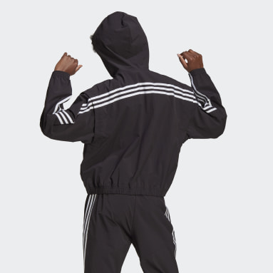 Women Sportswear Black adidas Sportswear Lightweight Travel Windbreaker
