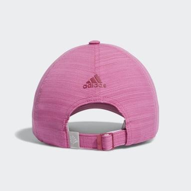Women Golf Pink Heathered Crestable Hat
