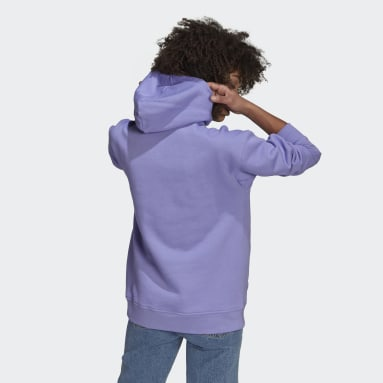 Women Originals Purple adidas Adicolor Trefoil Hoodie
