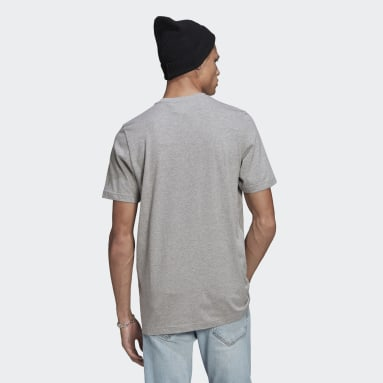 Men Originals Grey LOUNGEWEAR Adicolor Essentials Trefoil T-Shirt