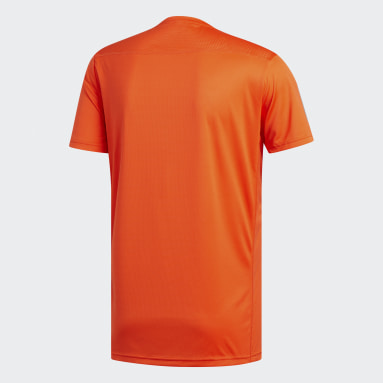 T-shirt Own the Run Orange Hommes Running