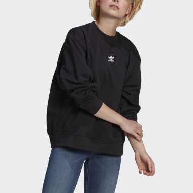 Women Originals Black LOUNGEWEAR Adicolor Essentials Sweatshirt