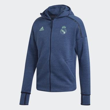 Real Madrid adidas Z.N.E. Hoodie Niebieski