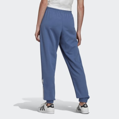 Women's Originals Blue Adicolor 3D Trefoil Track Pants