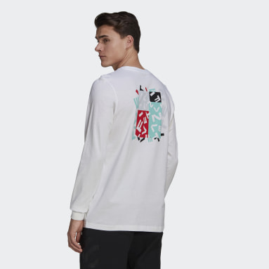 Men Five Ten White Five Ten Graphic Long Sleeve Tee