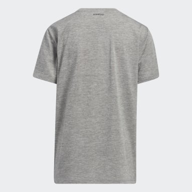 Youth Training Grey Vertical Badge of Sport Mélange Tee