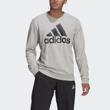Men Sportswear Grey Essentials Big Logo Sweatshirt