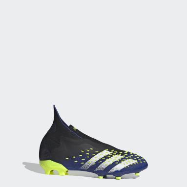 Boys Fodbold Sort Predator Freak+ Firm Ground støvler