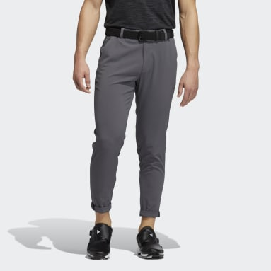 Men Golf Grey Pin Roll Pants