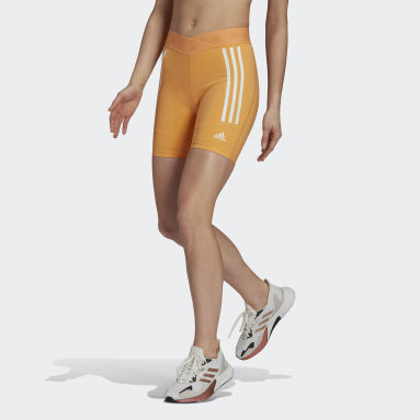 Women Training Orange Speed Creation Shorts