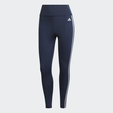 Women's Training Blue adidas Designed 2 Move AEROREADY Dance 7/8 Tights