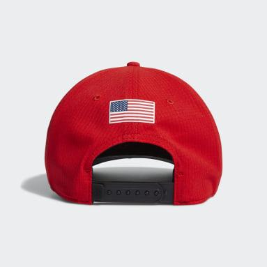 Men's Golf Red A-Stretch USA Tour Hat