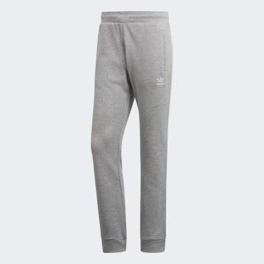 Calças Trefoil LOUNGEWEAR Essentials Cinzento Homem Originals