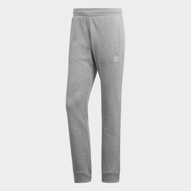 Men's Originals Grey LOUNGEWEAR Trefoil Essentials Pants