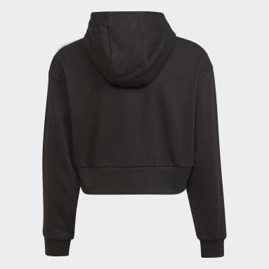 Sweat-shirt à capuche Adicolor Cropped noir Adolescents Originals