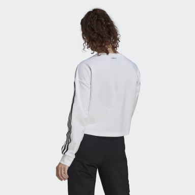 Women's Essentials White adidas x Zoe Saldana AEROREADY Sweatshirt