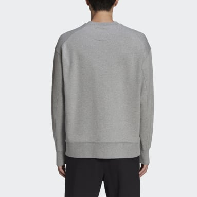 Men Y-3 Grey Y-3 Classic Chest Logo Crew Sweatshirt