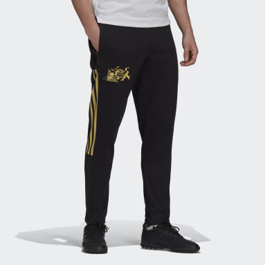 Men Football Black Juventus CNY Sweat Tracksuit Bottoms