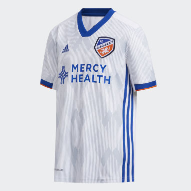 Youth Soccer White FC Cincinnati Away Jersey