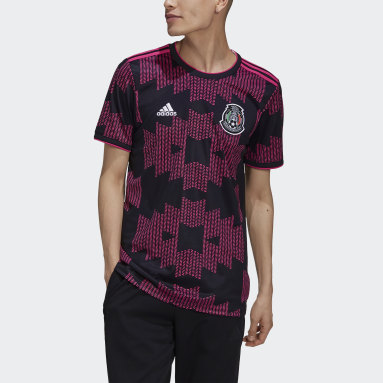 Men's Soccer Black Mexico Home Jersey